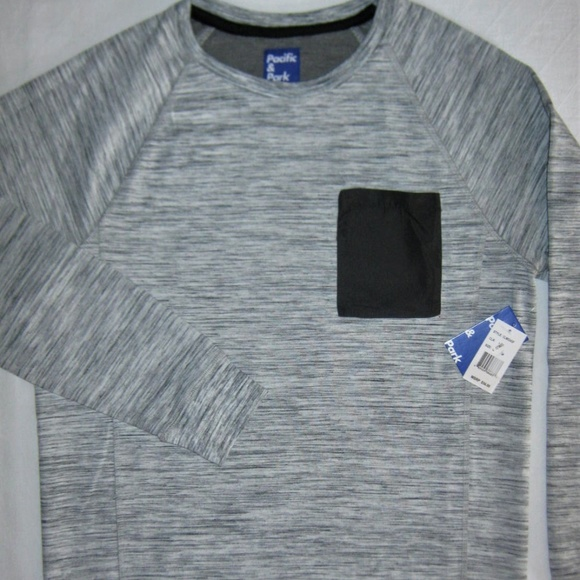 Pacific & Park Other - Spacedyed Sweatshirt Pullover Gray Chest Pocket S